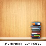 books on wooden shelf eps10... | Shutterstock .eps vector #207483610