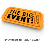 the big event words on an...   Shutterstock . vector #207486364