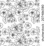 floral designs.line  of flowers. | Shutterstock .eps vector #207486580