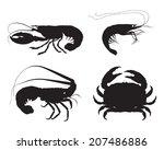 vector shrimp  lobster  crab... | Shutterstock .eps vector #207486886