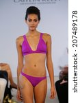miami   july 19  model walks...   Shutterstock . vector #207489178