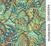 vector seamless hand drawn... | Shutterstock .eps vector #207490594