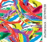 vector seamless bold pattern... | Shutterstock .eps vector #207494158