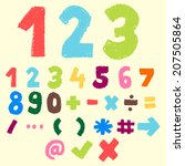 123 Pastel Color Numeric And...