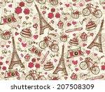 Paris Vintage Background....