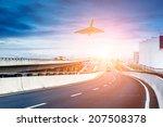 city expressway under the sun | Shutterstock . vector #207508378