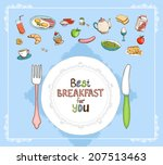 best breakfast for you elements ... | Shutterstock .eps vector #207513463