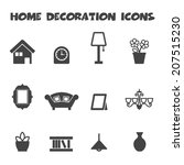 home decoration icons  mono... | Shutterstock .eps vector #207515230