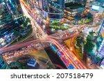 traffic speeds through an...   Shutterstock . vector #207518479