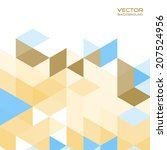 abstract mosaic vector for... | Shutterstock .eps vector #207524956