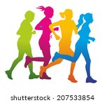 group of male and female runner ... | Shutterstock . vector #207533854