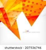 modern 3d glossy overlapping... | Shutterstock .eps vector #207536746