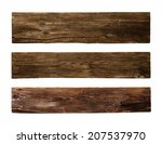Old Wood Plank  Isolated On...