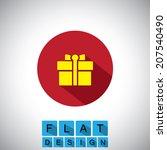flat design icon of gift  bonus ...