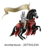 an illutration of a knight... | Shutterstock .eps vector #207541234