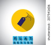 flat design icon of tag for...