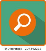flat vector search icon