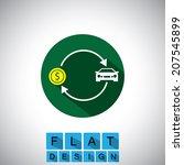 flat design icon of buying ...