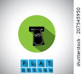 flat design icon of atm and...