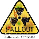 Nuclear Fallout Warning Sign ...