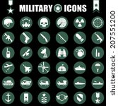 military icons set | Shutterstock .eps vector #207551200