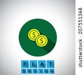 flat design icon of dollar cash ...