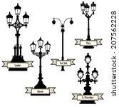 Street Lamp Label Set. Street...