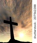 concept conceptual black cross... | Shutterstock . vector #207562288