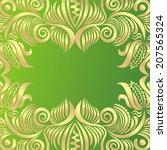 floral nature pattern frame... | Shutterstock .eps vector #207565324