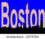 Boston Massachusetts skyline illustration