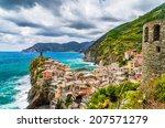 beautiful view of vernazza  one ... | Shutterstock . vector #207571279
