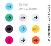 arrow sign icon set. simple...