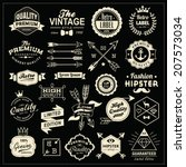 collection of vintage labels ... | Shutterstock .eps vector #207573034