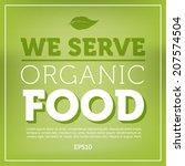 organic food stamp | Shutterstock .eps vector #207574504