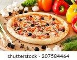 supreme pizza | Shutterstock . vector #207584464
