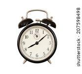 ancient desktop alarm clock on...   Shutterstock . vector #207598498