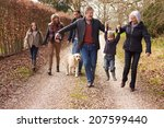 Stock photo multi generation family on countryside walk 207599440