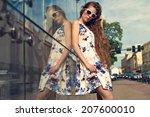 beautiful young girl in...   Shutterstock . vector #207600010