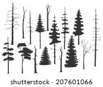 free hand drawing set of the... | Shutterstock .eps vector #207601066
