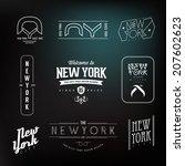vintage new york city hipster...   Shutterstock .eps vector #207602623