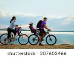 young family with two kids go... | Shutterstock . vector #207603466
