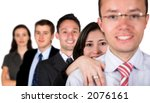 business team full of young... | Shutterstock . vector #2076161