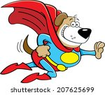 cartoon illustration of a dog... | Shutterstock .eps vector #207625699