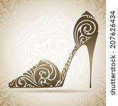 vintage ornamental shoe.... | Shutterstock .eps vector #207626434