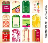 holiday tags | Shutterstock .eps vector #20763106