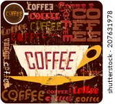 retro coffee sign  vector... | Shutterstock .eps vector #207631978