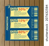 coupon sale  offers and... | Shutterstock .eps vector #207632584