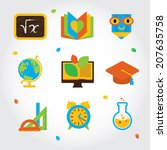 metro flat icon set about... | Shutterstock .eps vector #207635758
