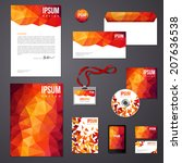 orange corporate identity... | Shutterstock .eps vector #207636538