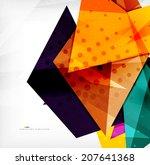 modern 3d glossy overlapping...   Shutterstock .eps vector #207641368